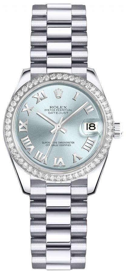 replique Montre Rolex Lady-Datejust 26 Ice Blue Dial 179136