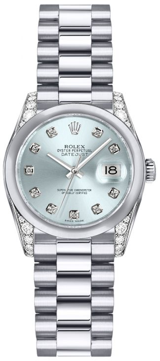 replique Montre Rolex Lady-Datejust 26 Platinum Diamond 179296