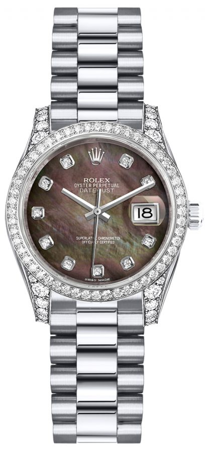 replique Montre Rolex Lady-Datejust 26 diamants en or 179159