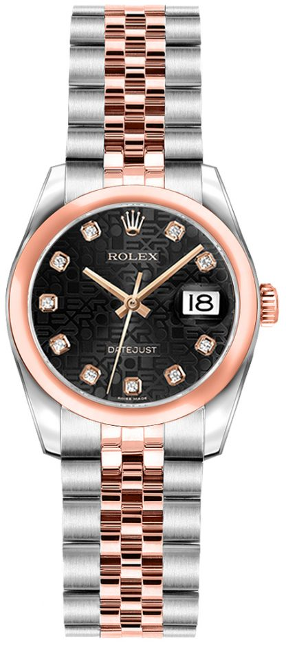 replique Montre Rolex Lady-Datejust 26 en acier et or rose 179161