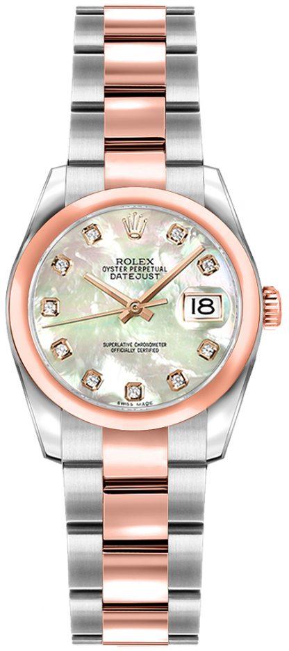 replique Montre Rolex Lady-Datejust 26 en nacre et diamant 179161