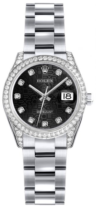 replique Montre Rolex Lady-Datejust 26 en or blanc 179159