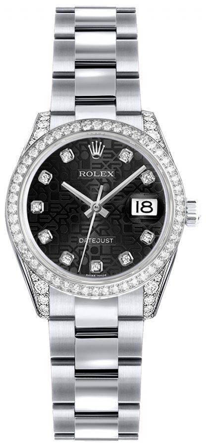 replique Montre Rolex Lady-Datejust 26 en or blanc 179159