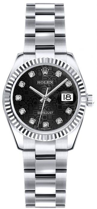 replique Montre Rolex Lady-Datejust 26 en or blanc 179179