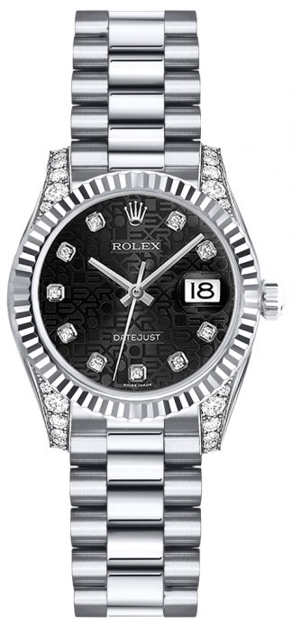 replique Montre Rolex Lady-Datejust 26 en or blanc 179239
