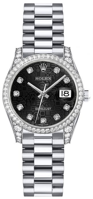 replique Montre Rolex Lady-Datejust 26 en or blanc massif 179159