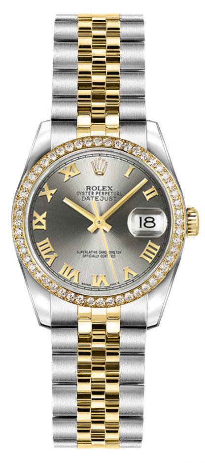replique Montre Rolex Lady-Datejust 26 en or et acier 179383