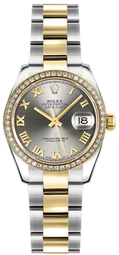 replique Montre Rolex Lady-Datejust 26 en or jaune et acier 179383
