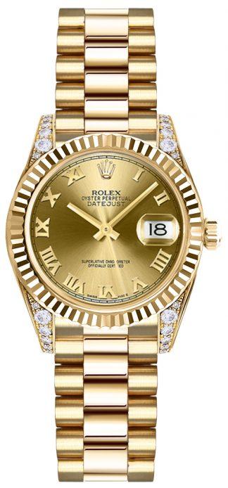 replique Montre Rolex Lady-Datejust 26 en or massif 179238