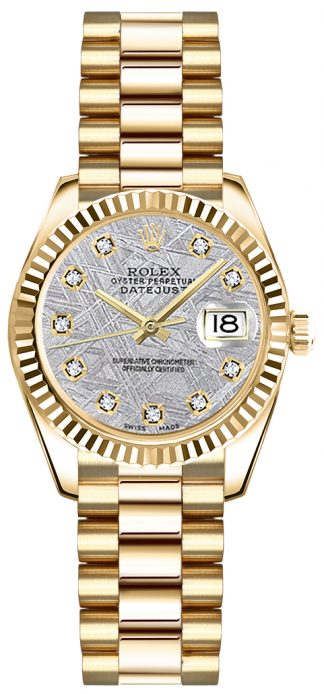replique Montre Rolex Lady-Datejust 26 en or massif 18K 179178