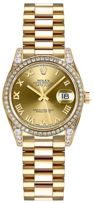 replique Montre Rolex Lady-Datejust 26 en or massif avec diamant 179158
