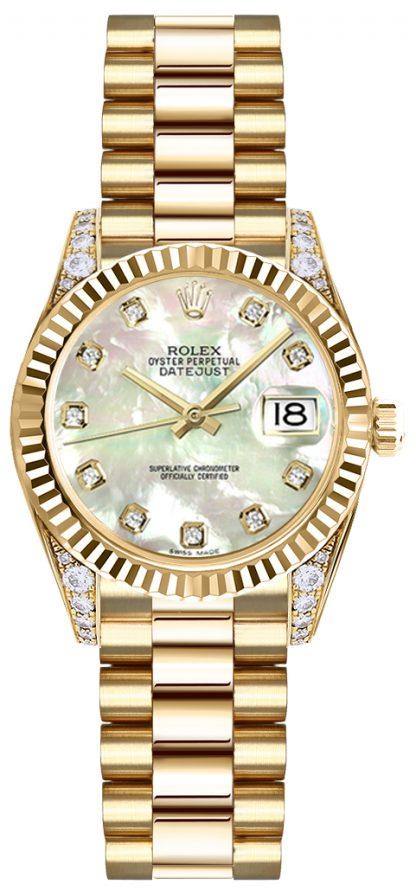 replique Montre Rolex Lady-Datejust 26 nacre avec cadran en diamant 179238