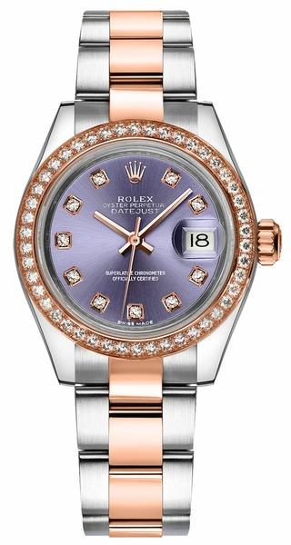 replique Montre Rolex Lady-Datejust 28 Diamond 279381RBR