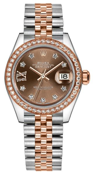 replique Montre Rolex Lady-Datejust 28 Jubilee Bracelet Or et Acier 279381RBR