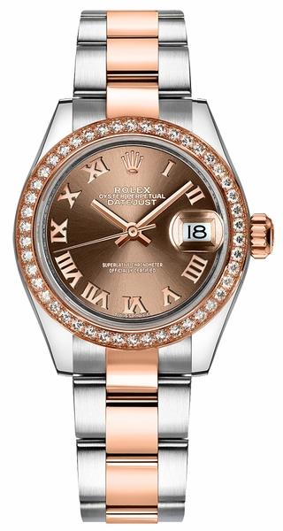 replique Montre Rolex Lady-Datejust 28 Oyster Bracelet Acier et Or Rose 279381RBR