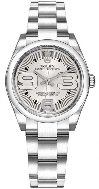 replique Montre Rolex Oyster Perpetual 31 à cadran argenté 177200