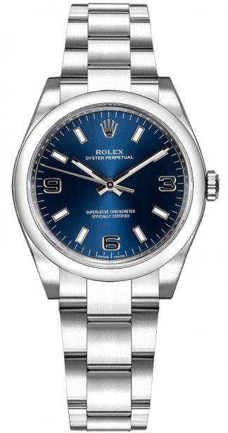 replique Montre Rolex Oyster Perpetual 31 à cadran bleu 177200