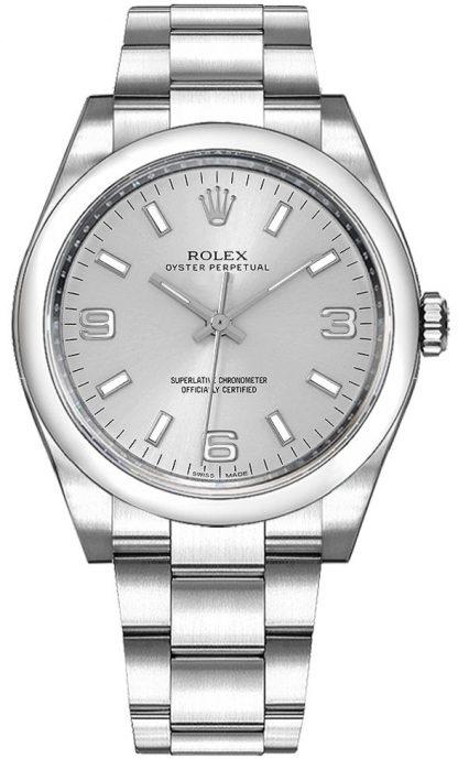 replique Montre Rolex Oyster Perpetual 36 à cadran argenté 116000