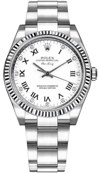 replique Montre Rolex Oyster Perpetual Air-King Diamond 114234