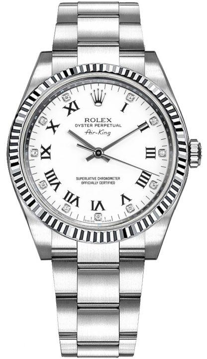 replique Montre Rolex Oyster Perpetual Air-King Diamond 114234
