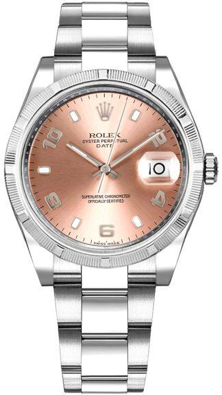 replique Montre Rolex Oyster Perpetual Date 34 cadran rose 115234
