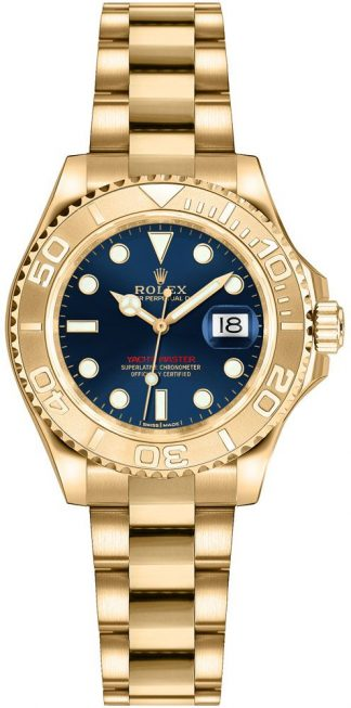 replique Montre Rolex Yacht-Master 29 en or massif 169628