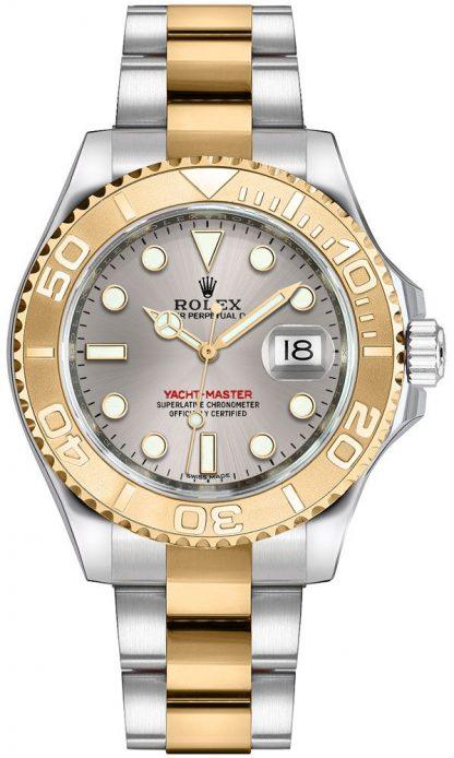 replique Montre Rolex Yacht-Master 35 en or et acier 168623
