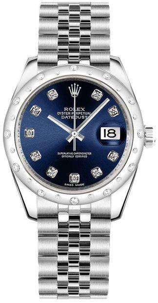 replique Montre bracelet Rolex Datejust 31 Blue Diamond Jubilee 178344