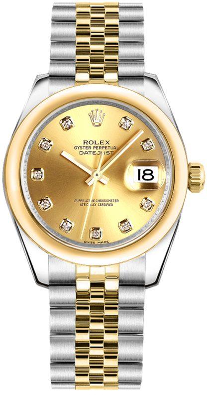 replique Montre bracelet Rolex Datejust 31 Champagne Diamond Jubilee 178243