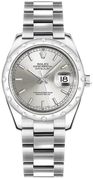 replique Montre bracelet Rolex Datejust 31 cadran argenté Oyster 178344
