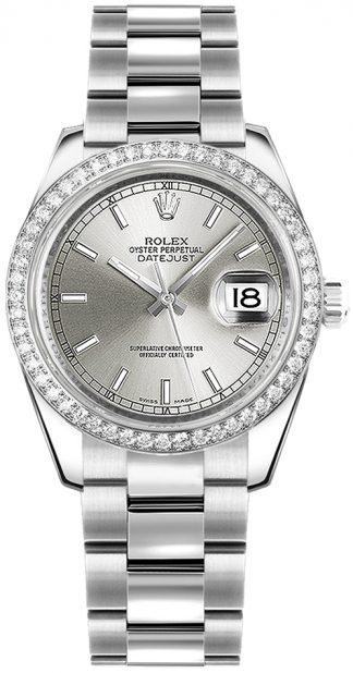replique Montre bracelet Rolex Datejust 31 cadran argenté Oyster 178384