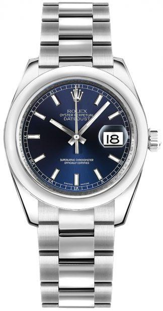 replique Montre bracelet Rolex Datejust 31 cadran bleu Oyster 178240