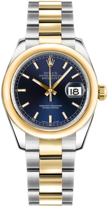 replique Montre bracelet Rolex Datejust 31 cadran bleu Oyster 178243