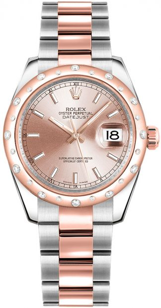 replique Montre bracelet Rolex Datejust 31 cadran rose Oyster 178341
