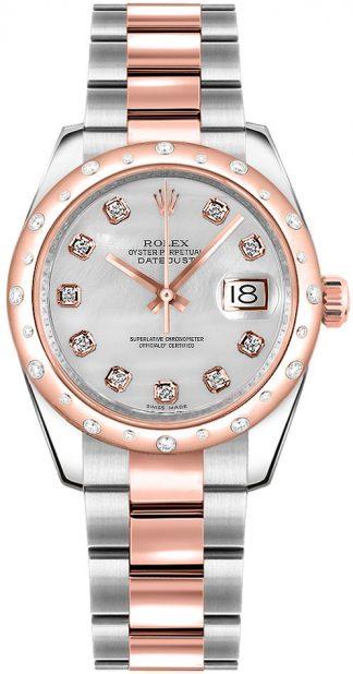 replique Montre bracelet Rolex Datejust 31 en nacre et diamant Oyster 178341