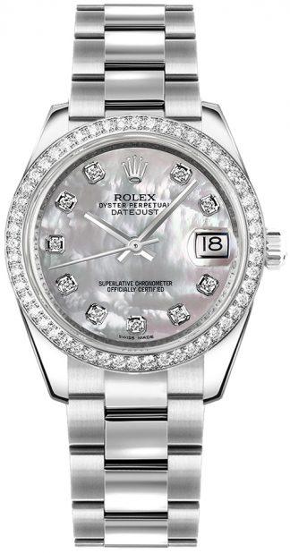 replique Montre bracelet Rolex Datejust 31 en nacre et diamant Oyster 178384