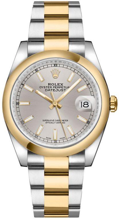 replique Montre bracelet Rolex Datejust 36 cadran argenté Oyster 116203
