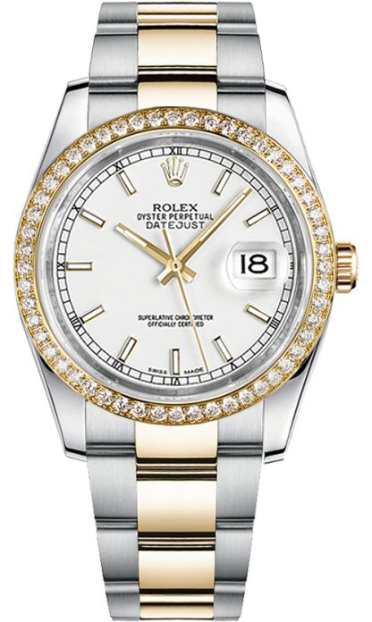 replique Montre bracelet Rolex Datejust 36 cadran blanc Oyster 116243