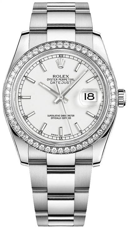 replique Montre bracelet Rolex Datejust 36 cadran blanc Oyster 116244