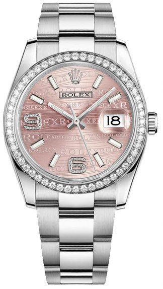 replique Montre bracelet Rolex Datejust 36 cadran rose Oyster 116244