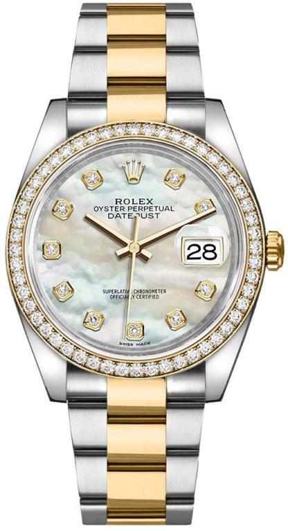 replique Montre bracelet Rolex Datejust 36 nacre Oyster 116243