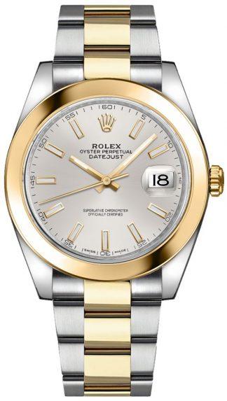 replique Montre bracelet Rolex Datejust 41 cadran argenté Oyster 126303