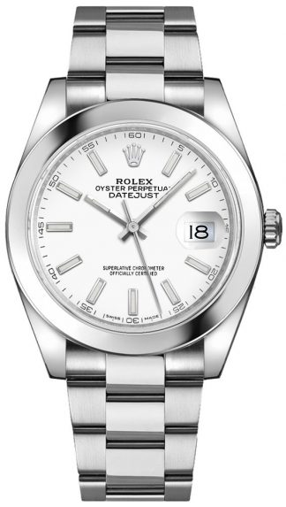 replique Montre bracelet Rolex Datejust 41 cadran blanc Oyster 126300