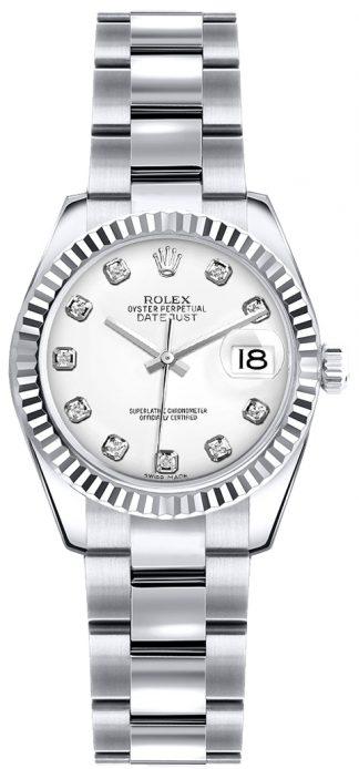 replique Montre bracelet Rolex Lady-Datejust 26 cadran blanc Oyster 179179