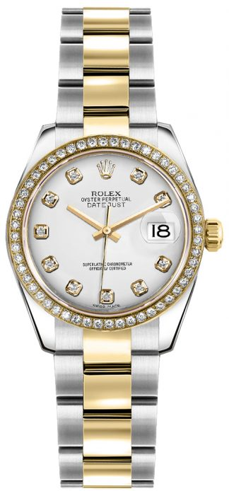 replique Montre bracelet Rolex Lady-Datejust 26 diamant blanc Oyster 179383