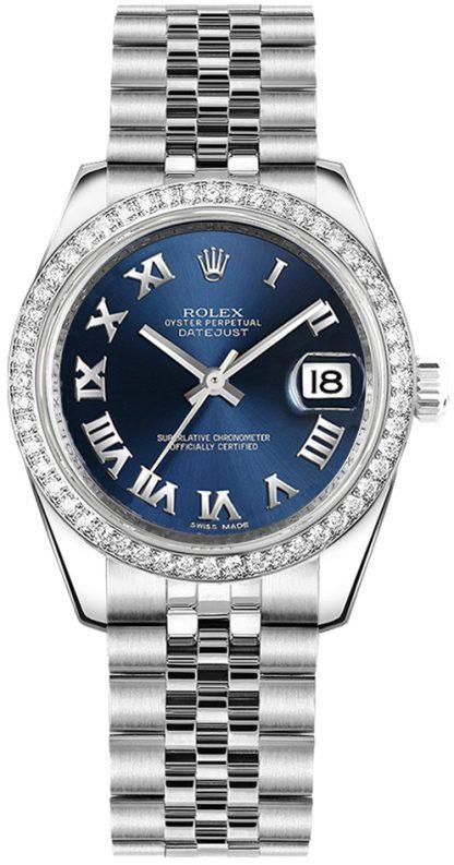 replique Montre bracelet jubilé Rolex Datejust 31 bleu chiffre romain 178384