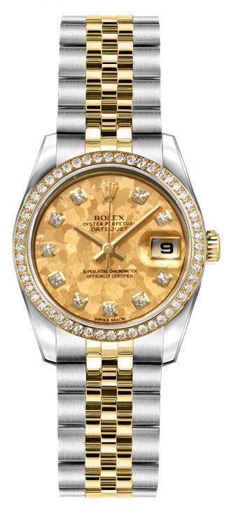 replique Montre bracelet jubilé Rolex Lady-Datejust 26 en acier et or 179383