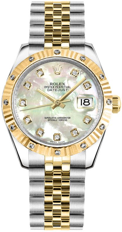 replique Montre bracelet jubilé de diamant nacre Rolex Datejust 31 178313