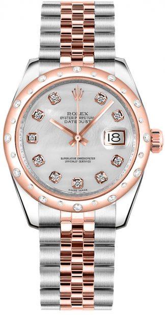replique Montre bracelet jubilé de diamant nacre Rolex Datejust 31 178341