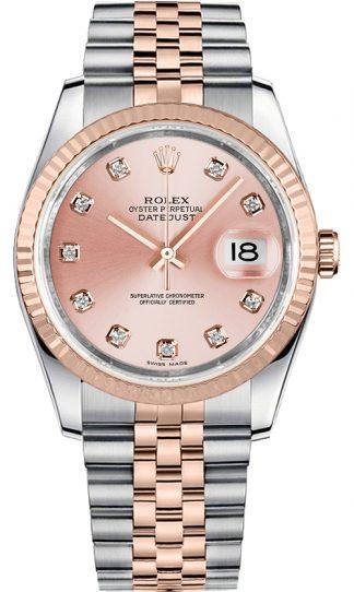 replique Montre bracelet jubilé de diamant rose Rolex Datejust 36 116231